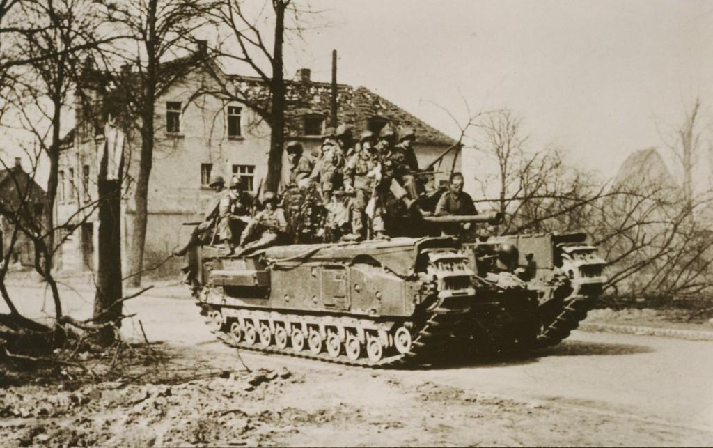 US-Amerikaner 1945 am Gemeindedreieck