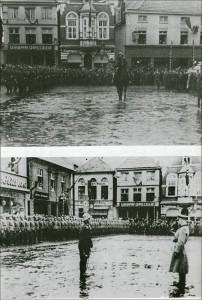 Begrüßung auf dem Marktplatz 1939