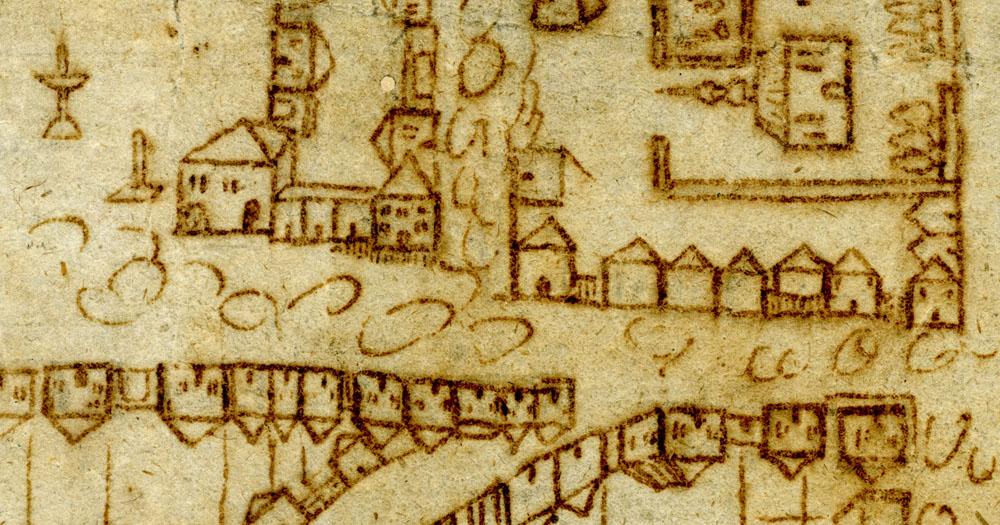 Straßenkarte Bochum 16. Jahrhundert